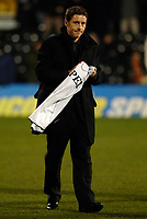 Photo: Daniel Hambury.<br />Fulham v Tottenham Hotspurs. Barclays Premiership. 31/01/2006.<br />Fulham's new signing Michael Brown meets the fans before kick off, looking a little glum.