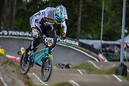 #595 (MOLINA Gonzalo) ARG during round 3 of the 2017 UCI BMX  Supercross World Cup in Zolder, Belgium,