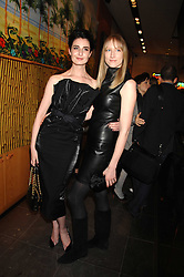 Left to right, ERIN O'CONNOR and JADE PARFITT at a party hosted by Mulberry to celebrate the publication of The Meaning of Sunglasses by Hadley Freeman held at Mulberry 41-42 New Bond Street, London on 14th February 2008.<br /><br />NON EXCLUSIVE - WORLD RIGHTS