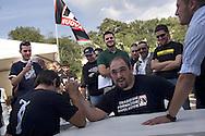 Campo d'Azione 2006 di Forza Nuova a Marta (VT).Braccio di ferro forzanovista meeting of forza nuova, raduno forza nuova