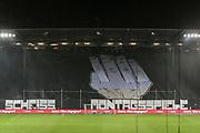 Fuusball: 2. Bundesliga, FC St. Pauli - Hamburger SV 2:0, Hamburg, 16.09.2019<br /> Choreographie: St. Pauli-Fans, Scheiss Montagsspiele<br /> © Torsten Helmke