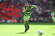 Forest Green Rovers Sam Wedgbury(8) runs forward during the Vanarama National League Play Off Final match between Tranmere Rovers and Forest Green Rovers at Wembley Stadium, London, England on 14 May 2017. Photo by Shane Healey.