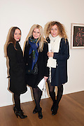 CLARA USTINOV; EMMANUELLE ORENGA DE GAFFORY; PEGGY LE BOEUF, Reception of the Silent Auction for the South London Gallery.  Hauser and Wirth. Savile Row. London. 13 October 2011. <br /> <br />  , -DO NOT ARCHIVE-© Copyright Photograph by Dafydd Jones. 248 Clapham Rd. London SW9 0PZ. Tel 0207 820 0771. www.dafjones.com.