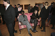 Sandy Nairne, Yinka Shonibare and Maxa Zoller, Hogarth private view and dinner. Tate Britain. London. 5 February 2007.  -DO NOT ARCHIVE-© Copyright Photograph by Dafydd Jones. 248 Clapham Rd. London SW9 0PZ. Tel 0207 820 0771. www.dafjones.com.