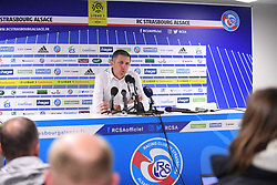 October 20, 2018 - Strasbourg, France - CONFERENCE DE PRESSE - THIERRY LAUREY  (Credit Image: © Panoramic via ZUMA Press)