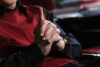 12 JAN 2007, POTSDAM/GERMANY:<br /> Haende von Prof. Hans Joachim Schellnhuber, Direktor, Potsdamer Institut fuer Klimaforschung, PIK, waehrend einem Interview, in seinem Buero, Institut fuer Klimaforschung<br /> IMAGE: 20070112-01-019<br /> KEYWORDS: Hand, Hände