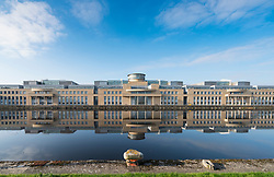 Exterior view of Victoria Quay offices of the Scottish Government in Leith, Edinburgh, Scotland, United Kingdom.