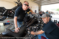 Ian Fix with his Fix Cycle Mechanics did a fantastic job getting bikes back on the road during the 78th annual Sturgis Motorcycle Rally. Sturgis, SD. USA. Tuesday August 7, 2018. Photography ©2018 Michael Lichter.