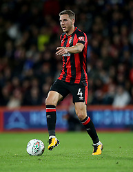 """AFC Bournemouth Dan Gosling in action during the Carabao Cup, third round match at the Vitality Stadium, Bournemouth. PRESS ASSOCIATION Photo. Picture date: Tuesday September 19, 2017. See PA story SOCCER Bournemouth. Photo credit should read: Steven Paston/PA Wire. RESTRICTIONS: EDITORIAL USE ONLY No use with unauthorised audio, video, data, fixture lists, club/league logos or """"live"""" services. Online in-match use limited to 75 images, no video emulation. No use in betting, games or single club/league/player publications."""