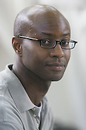Award-winning exiled Nigerian author Segun Afolabi pictured at the Edinburgh International Book Festival where he talked about his work. The Book Festival was the World's largest literary event and featured writers from around the world. The 2006 event featured around 550 writers and ran from 13-28 August.