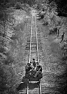 The annual Friends of the East Broad Top reunion allowed members an opportunity to ride a speeder the entire length of the operatble track and back.