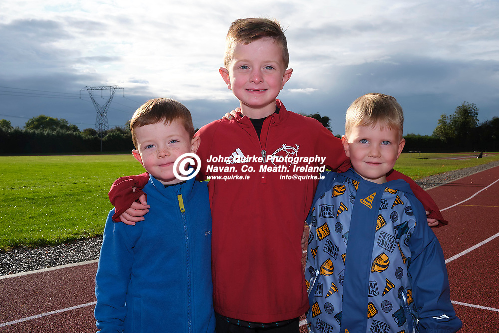 19/10/2019, Official opening of Dunboyne AC Track & facility<br /> Pictured at the opening were L-R, Cian and Dan Quirke with Loughlan Keane<br /> Photo: David Mullen / www.quirke.ie ©John Quirke Photography, Unit 17, Blackcastle Shopping Cte. Navan. Co. Meath. 046-9079044 / 087-2579454.<br /> ISO: 400; Shutter: 1/250; Aperture: 6.4; <br /> File Size: 55.2MB