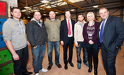 © Licensed to London News Pictures. 28/01/2013. Sheffield, UK. HNC Construction student, Bradley Crowther, 19 who is studying brick laying at Sheffield College. The Government today launched the Green Deal- the Coalition Government's programme to help people stay warm for less. Deputy PrimeMinister and Secretary for Energy and Climate Change visited the students today. Sheffield College.Photo credit : David Mirzoeff/LNP