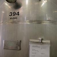 South America, Chile, Santiago. Wine Fermentation Casks at Santa Rita Winery.