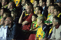 Photo: Paul Thomas.<br /> Watford v Norwich. Coca Cola Championship.<br /> 13/09/2005.<br /> <br /> Norwich supporters not looking happy.