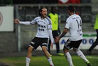 Fotball Tippeligaen Rosenborg - Viking<br /> 29 mars 2014<br /> Lerkendal Stadion, Trondheim<br /> <br /> <br /> <br /> Mikkel Mix Diskerud jubler etter å ha scoret 1-0 for Rosenborg. Til Høyre : Nicki Bille Nielsen, Rosenborg<br /> <br /> <br /> <br /> <br /> Foto : Arve Johnsen, Digitalsport
