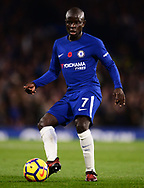 N'Golo Kante of Chelsea in action .Premier league match, Chelsea v Manchester United at Stamford Bridge in London on Sunday 5th November 2017.<br /> pic by Andrew Orchard sports photography.
