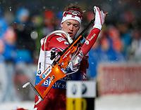 Skiskyting<br /> VM 2015<br /> Kontiolahti - Finland<br /> 05.03.2015<br /> Foto: Gepa/Digitalsport<br /> NORWAY ONLY<br /> <br /> Mix-stafett<br /> IBU World Championships, relay 2x6km ladies and 2x7.5km men, mixed team. Image shows Tarjei Bø (NOR).