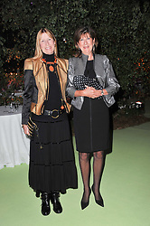 Left to right, LADY CARINA FROST and the COUNTESS OF BALFOUR at a dinner hosted by Cartier in celebration of the Chelsea Flower Show held at Battersea Power Station, 188 Kirtling Street, London SW8 on 23rd May 2011.