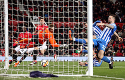 Manchester United's Nemanja Matic scores his side's second goal of the game during the Emirates FA Cup, quarter final match at Old Trafford, Manchester.