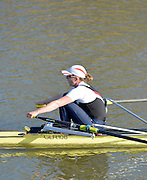 Boston, Great Britain. Women's Single Scull GBR W1X . Beth RODFORD,  compete's in the 2013 GBRowing second assessment, Boston Rowing Club, River Witham, Lincolnshire.     Saturday   09/02/2013   [Mandatory Credit. Peter Spurrier/Intersport Images]