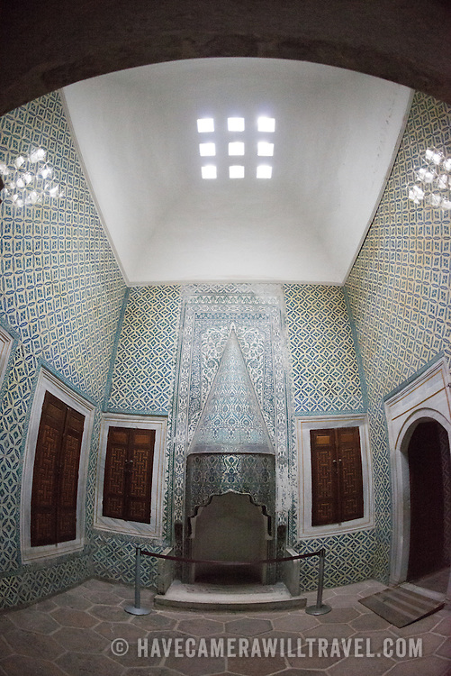 The Imperial Harem was the inner sanctum of the Topkapi Palace where the Sultan and his family lived. Standing on a peninsular overlooking the Bosphorus Strait and Golden Horn, Topkapi Palace was the primary residence of the Ottoman sultans for approximately 400 years (1465–1856) of their 624-year reign.