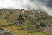 Overlooking Lower Industrial Section of  Machu Picchu  Peru