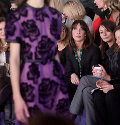 © Licensed to London News Pictures. 20/02/2012. London, UK.  Samantha Cameron watching Christopher Kane Autumn/Winter 2012 collection at 1 New Change on Day 4 of London Fashion Week 2012 . Photo credit : Ben Cawthra/LNP