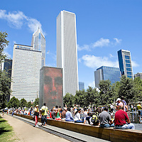 Photography by Wayne Cable inside Chicago, Illinois Millennium Park.