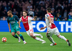 08-05-2019 NED: Semi Final Champions League AFC Ajax - Tottenham Hotspur, Amsterdam<br /> After a dramatic ending, Ajax has not been able to reach the final of the Champions League. In the final second Tottenham Hotspur scored 3-2 / Daley Blind #17 of Ajax, Lucas #27 of Tottenham Hotspur