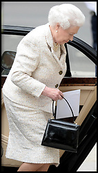 HM The Queen arrives at  The London Clinic to visit her Husband The Duke of Edinburgh in hospital at The London Clinic in London, on his 92nd Birthday, Monday, 10th June 2013<br /> Picture by Andrew Parsons / i-Images