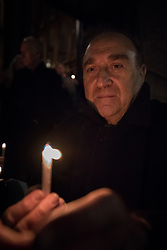 """9 December 2017, Oslo, Norway: In the Trinity Church in Oslo, Norway on 9 December, the World Council of Churches and the Church of Norway hosted an ecumenical prayer service on the occasion of the Nobel Peace Prize ceremony. Oslo hosts the Nobel Peace Prize award ceremony on 9-10 December 2017. The prize in 2017 goes to the International Campaign to Abolish Nuclear Weapons (ICAN), for """"its work to draw attention to the catastrophic humanitarian consequences of any use of nuclear weapons and for its ground-breaking efforts to achieve a treaty-based prohibition of such weapons"""". Here, ICAN campaigner Michele di Paolantonio from Italy."""