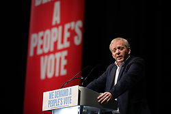 © Licensed to London News Pictures. 09/12/2018. London, UK. Conservative MP Dr Philip Lee speaks at a People's Vote rally at the Excel Centre in London. MPs will vote on Prime Minister Theresa May's proposed Brexit deal in the coming week. Photo credit: Rob Pinney/LNP