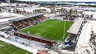 JÄMTKRAFT ARENA 2020-04-05<br /> Bilder på Jämtkraft Arena dagen för den planerade premiären i Allsvenskan. Dagen för den Allsvencka premiären och Arenan ligger öde. Den Allsvenska starten är uppskjuten på grund av Corona-utbrottet.<br /> <br /> Foto: Per Danielsson/Projekt.P