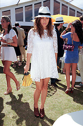 Actress MYLENE JAMPANOI at the Veuve Clicquot Gold Cup polo final held at Cowdray Park, Midhurst, West Sussex on 18th July 2010.