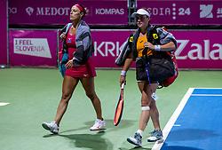 PORTOROZ, SLOVENIA - SEPTEMBER 18:  Tamara Zidansek (R) and Andreja Klepac of Slovenia after playing doubles semifinal  during the WTA 250 Zavarovalnica Sava Portoroz at SRC Marina, on September 18, 2021 in Portoroz / Portorose, Slovenia. Photo by Vid Ponikvar / Sportida