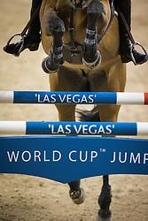 Sheikh Ali Al Thani Bin Khalid, (QAT), First Devision <br /> Training session<br /> Longines FEI World Cup™ Jumping Finals <br /> Las Vegas 2015<br />  © Hippo Foto - Dirk Caremans<br /> 15/04/15