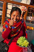Women vendors selling grapes, Ima Keithel women´s market, Imphal, Manipur, India