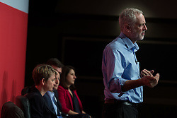 © Licensed to London News Pictures . 25/07/2015 . Warrington , UK . JEREMY CORBYN at the Labour Party leadership hustings at Parr Hall in Warrington . Photo credit : Joel Goodman/LNP