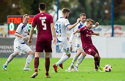 Gašper Udovič of Triglav during football match between NK Triglav and NK Celje in Round #14 of Prva liga Telekom Slovenije 2018/19, on October 27, 2018, in Sports centre Kranj, Slovenia. Photo by Vid Ponikvar / Sportida
