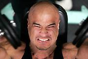 Scott Morgan\The Hawk Eye.Mr. Iowa winner Chris Genkinger of Burlington works out Wednesday, June 13, 2007 in Burlington, Iowa.