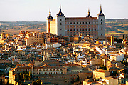 SPAIN, LA MANCHA, TOLEDO Skyline with the Alcazar fortress