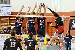 during volleyball match between ACH Volley Ljubljana and OK Hoce in the half Final of Slovenian Volleyball Cup 2017, on December 22, 2017 in Hoce, Slovenia. Photo by Mario Horvat / Sportida
