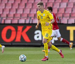 Artem Bondarenko (Ukraine) under U21 EM2021 Kvalifikationskampen mellem Danmark og Ukraine den 4. september 2020 på Aalborg Stadion (Foto: Claus Birch).