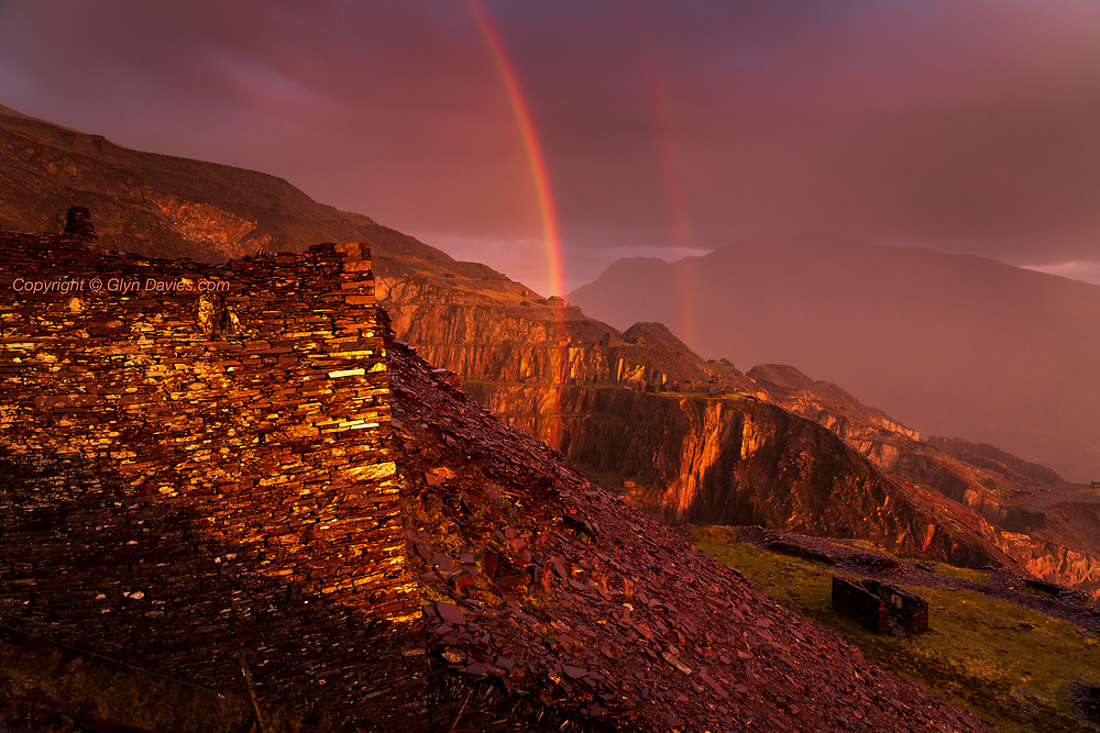 UNESCO World Heritage Site<br /> <br /> Stunning rainbows formed behind me as late evening sunset burned through sheets of rain moving across the mountains. It was so tempting to concentrate on the back-lit rain in front of me, but when this was going on behind my back I couldn't resist a snap :-)
