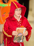 Students parade around Oak Forest Elementary School dressed as their favorite book character, October 31, 2013.