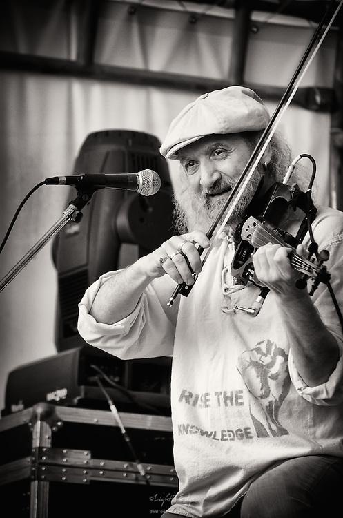 Sergey Ryabtsev of Gogol Bordello performing at the 2011 Appel Farm's Arts & Music Festival in Elmer, NJ.