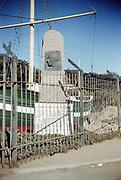 CS00959-07. Roald Admundsen's ship the Gjoa in Golden Gate Park, San Francisco, California,. Kodachrome mount dates ca 1952-55.