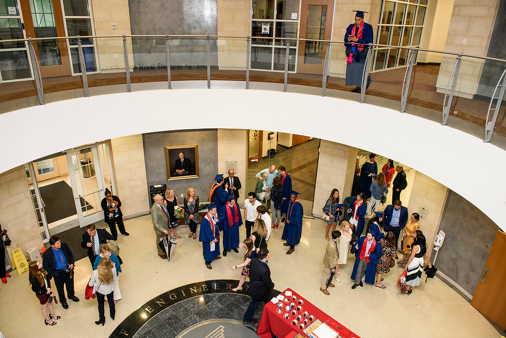 Graduates, faculty, family and friends attend the Lyle School of Engineering Graduation Award Ceremony and Reception, Saturday, May 18, 2019 in Caruth Hall on the SMU Campus.