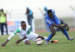 Robert Omunuk of Nakumatt FC outpace Karim Niyizigimana of Gor Mahia during their Sportpesa Premier League tie at Nyayo Stadium in Nairobi on August 2, 2017. Gor won 1-0. Photo/Fredrick Omondi/www.pic-centre.com(KENYA)
